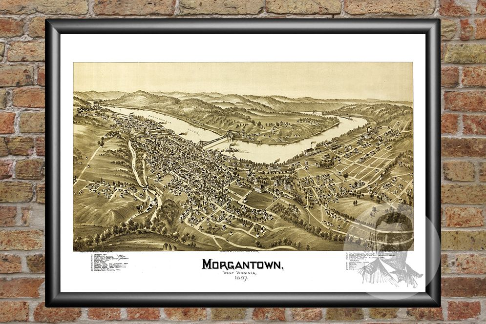Morgantown, WV Historical Map - 1897