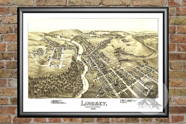 Lindsey, PA Historical Map - 1895
