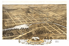 Naperville, IL Historical Map - 1869