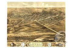 Lincoln, IL Historical Map - 1869