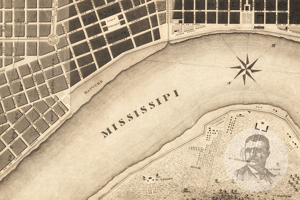 New Orleans, LA Historical Map - 1817