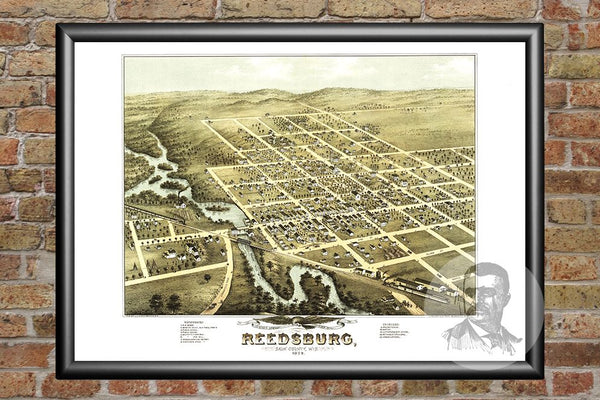 Reedsburg, WI Historical Map - 1874