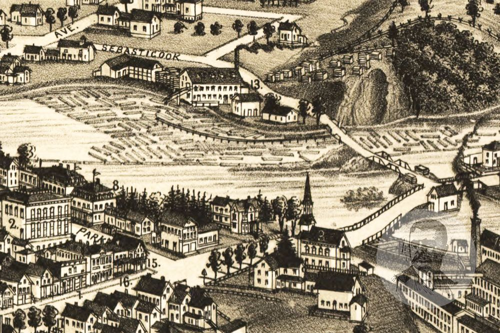 Pittsfield, ME Historical Map - 1889