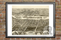 Batavia, IL Historical Map - 1869
