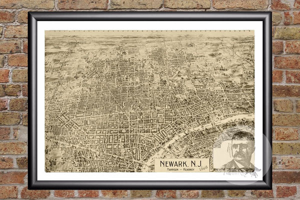 Newark, NJ Historical Map - 1895