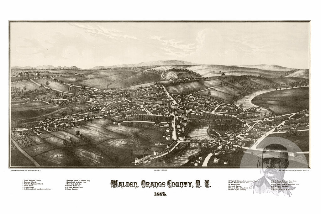 Walden, NY Historical Map - 1887