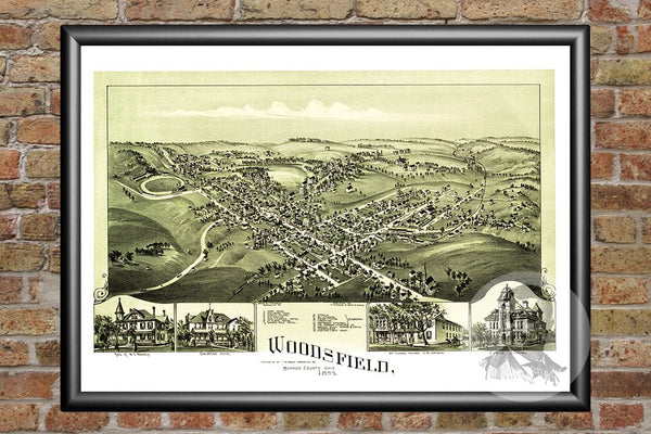 Woodsfield, OH Historical Map - 1899