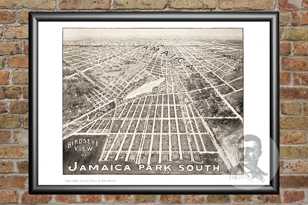 Jamaica, NY Historical Map - 1908 - Ted's Vintage Maps