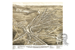Great Falls, NH Historical Map - 1877