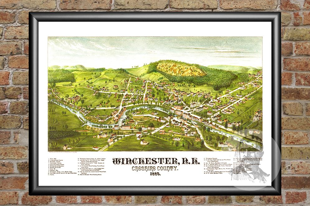 Winchester, NH Historical Map - 1887