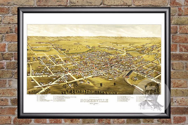 Somerville, NJ Historical Map - 1882