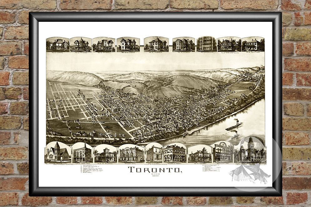 Toronto, OH Historical Map - 1899
