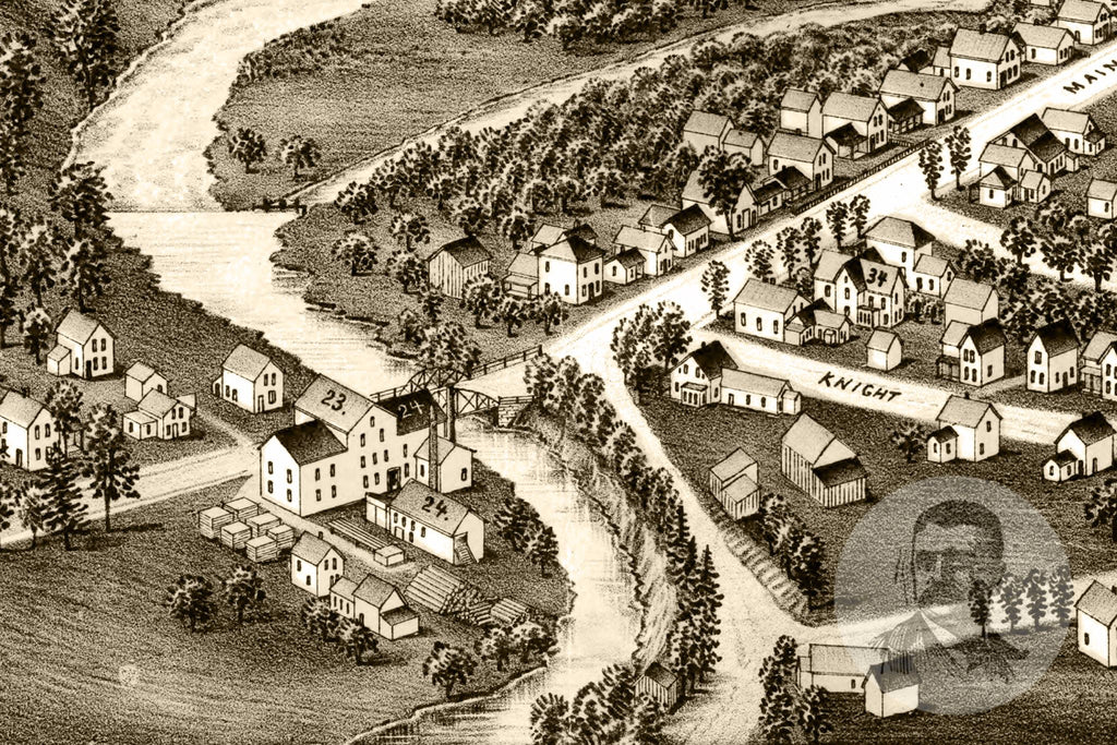 Silver Creek, NY Historical Map - 1892