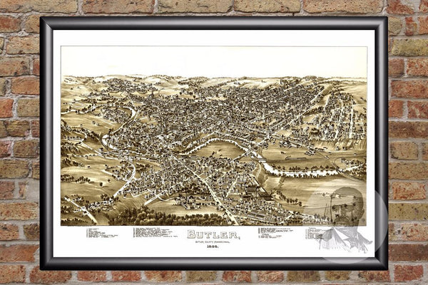 Butler, PA Historical Map - 1896