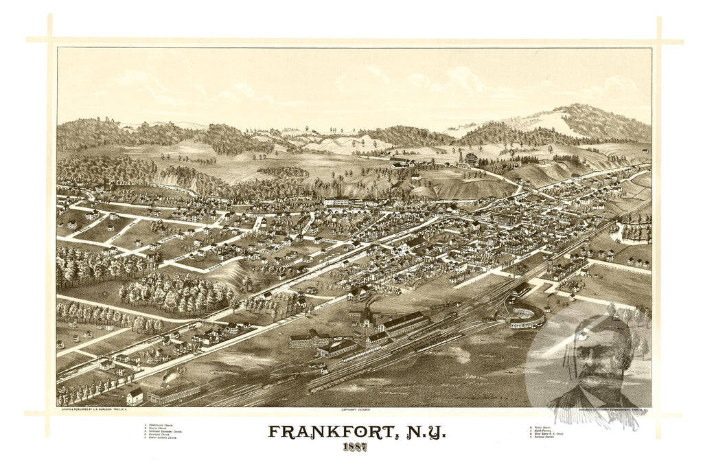 Frankfort, NY Historical Map - 1887 - Ted's Vintage Maps