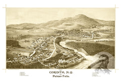 Corinth & Palmer Falls, NY Historical Map - 1888