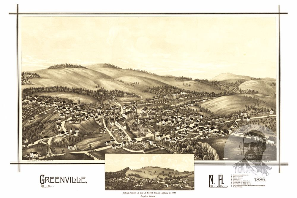 Greenville, NH Historical Map - 1886 - Ted's Vintage Maps