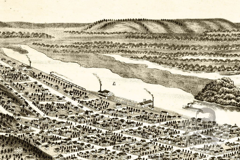 Red Wing, MN Historical Map - 1880