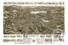 Canton, MA Historical Map - 1918