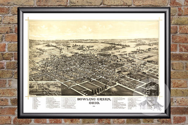 Bowling Green, OH Historical Map - 1888
