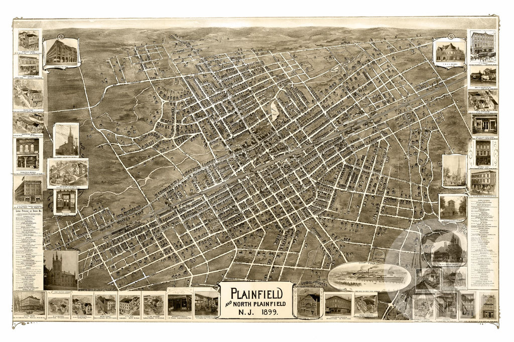 Plainfield, NJ Historical Map - 1899