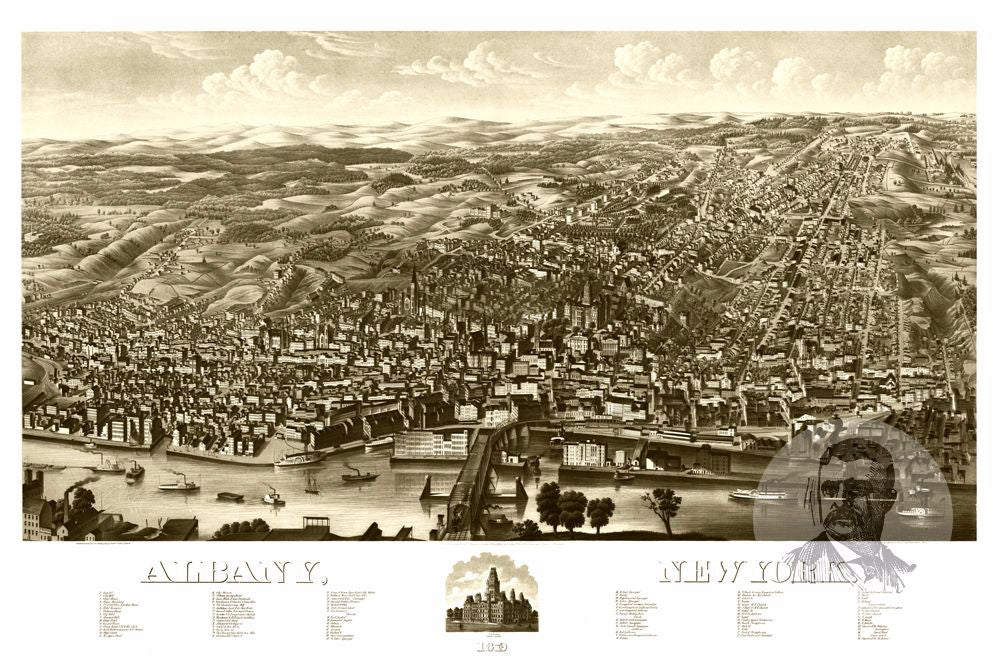 Albany, NY Historical Map - 1879 - Ted's Vintage Maps