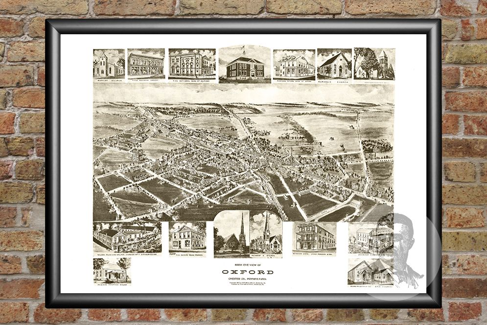 Oxford, PA Historical Map - 1907