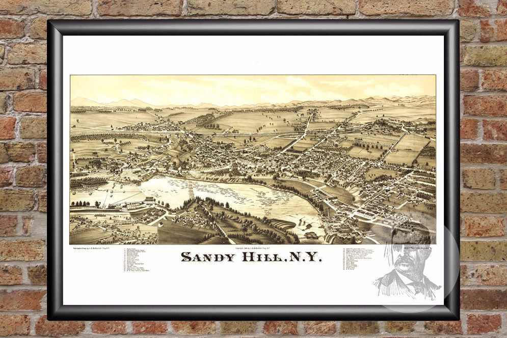 Sandy Hill, NY Historical Map - 1884