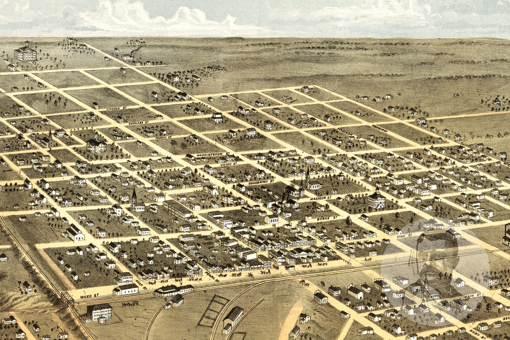 Macon City, MO Historical Map - 1869