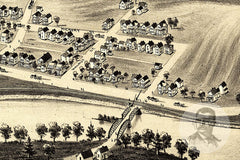 Peckville, PA Historical Map - 1892