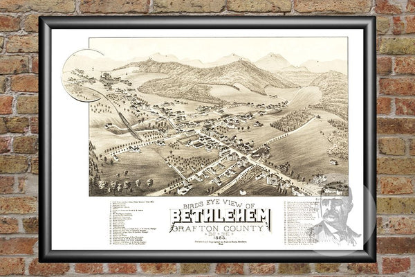 Bethlehem, NH Historical Map - 1883