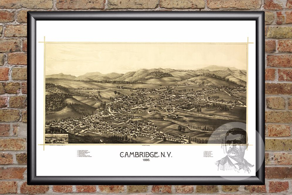 Cambridge, NY Historical Map - 1886 - Ted's Vintage Maps