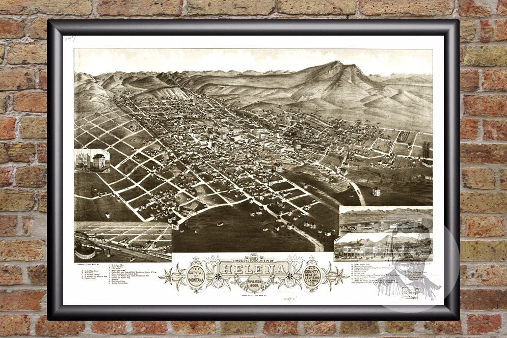 Helena, MT Historical Map - 1883