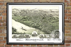 Moundsville, WV Historical Map - 1899