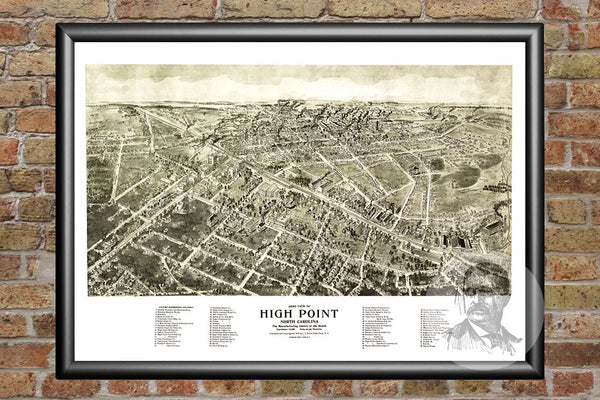 High Point, NC Historical Map - 1913