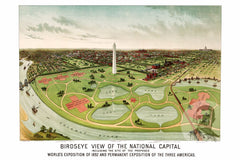 Washington, DC Historical Map - 1892