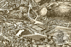 Fitchburg, MA Historical Map - 1915