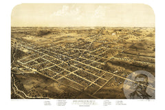 Coldwater, MI Historical Map - 1868