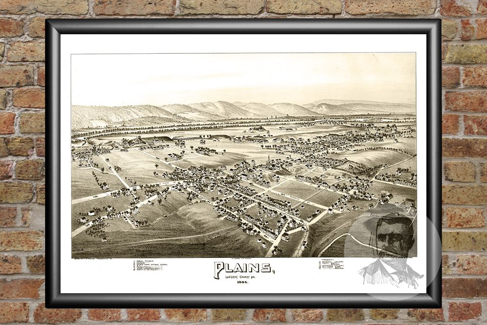 Plains, PA Historical Map - 1892