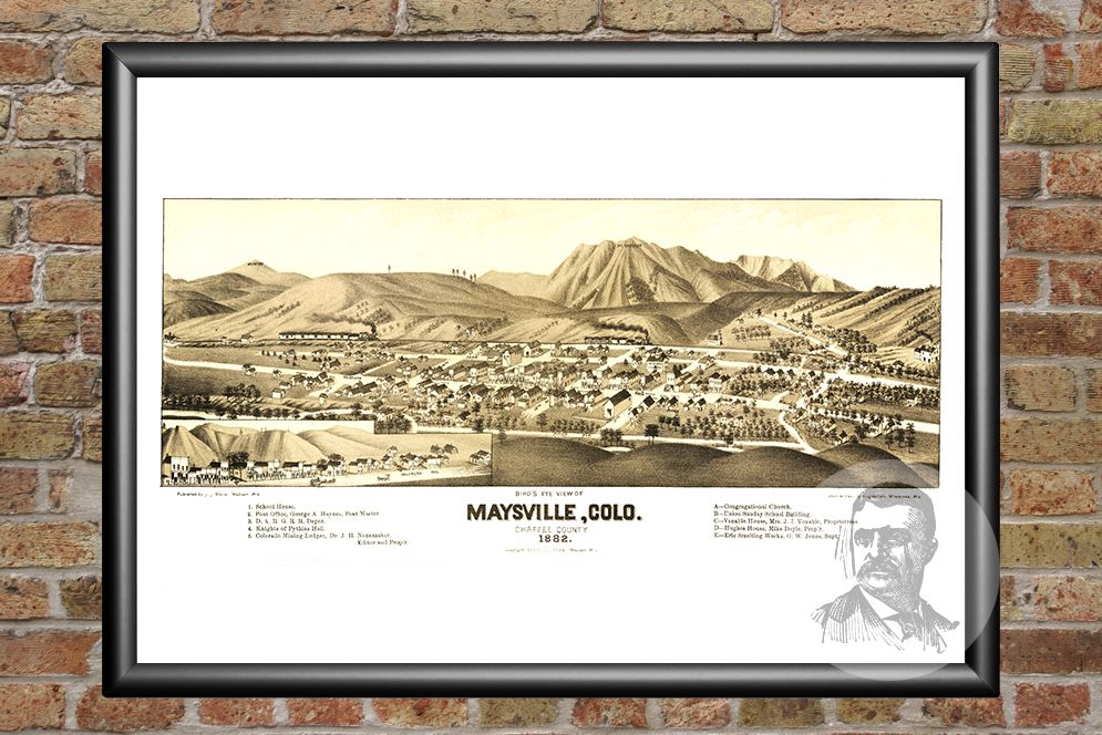 Maysville, CO Historical Map - 1882