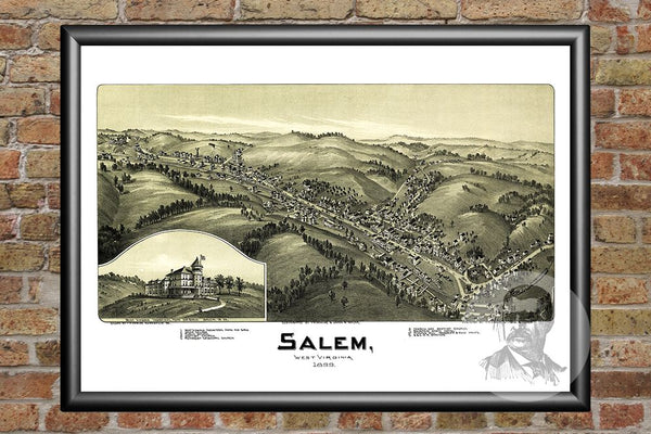 Salem, WV Historical Map - 1899