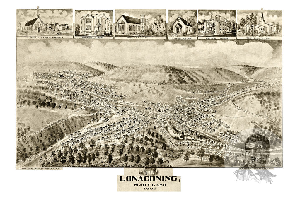 Lonaconing, MD Historical Map - 1905