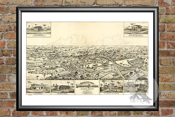 Longwood, FL Historical Map - 1885