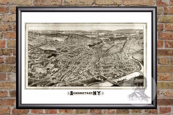 Schenectady, NY Historical Map - 1882