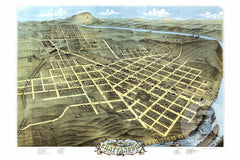 Chattanooga, TN Historical Map - 1871