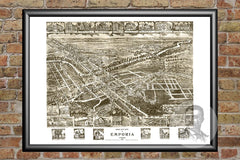 Emporia, VA Historical Map - 1907
