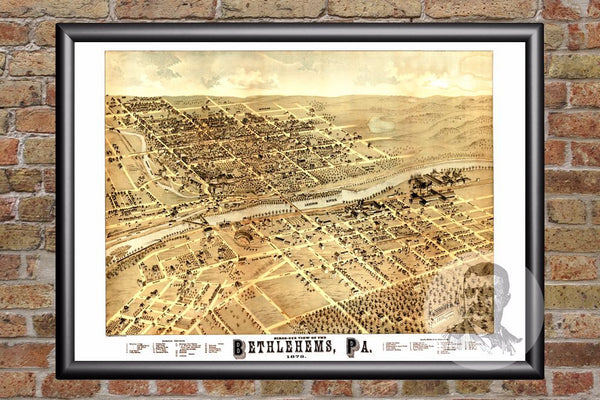 Bethlehem, PA Historical Map - 1878