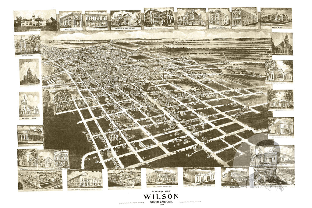 Wilson, NC Historical Map - 1908