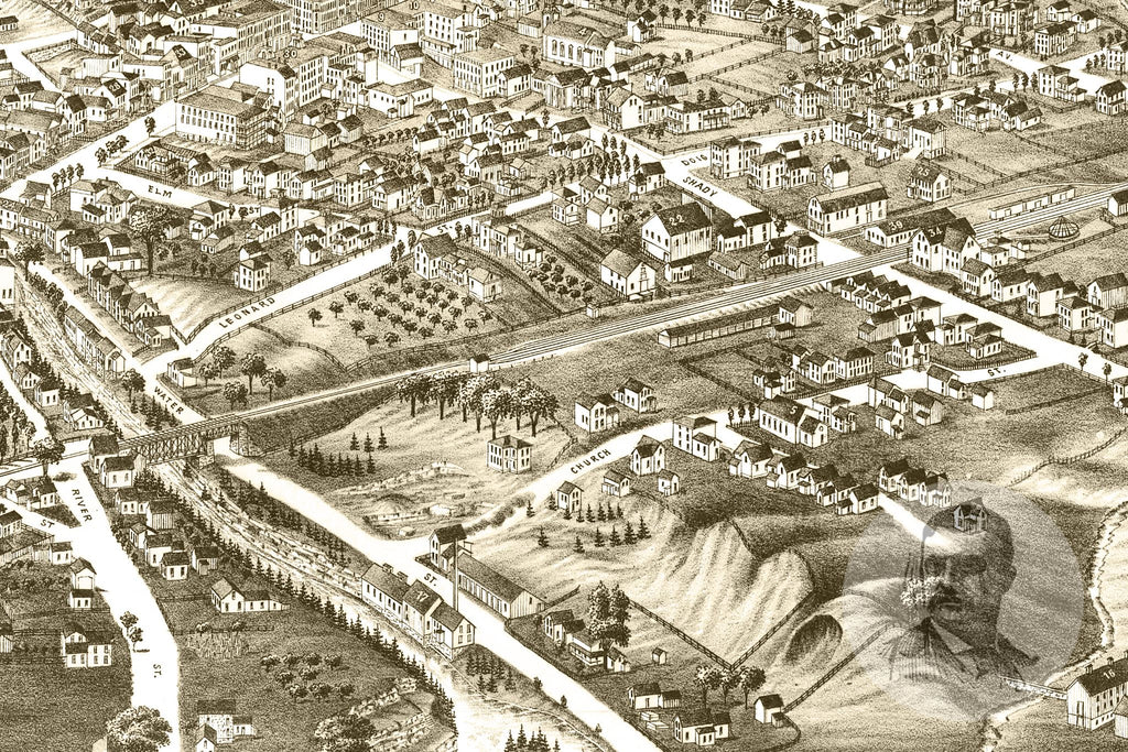 Lowville, NY Historical Map - 1885