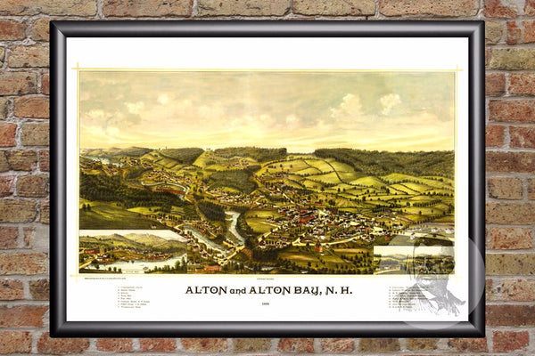 Alton, NH Historical Map - 1888